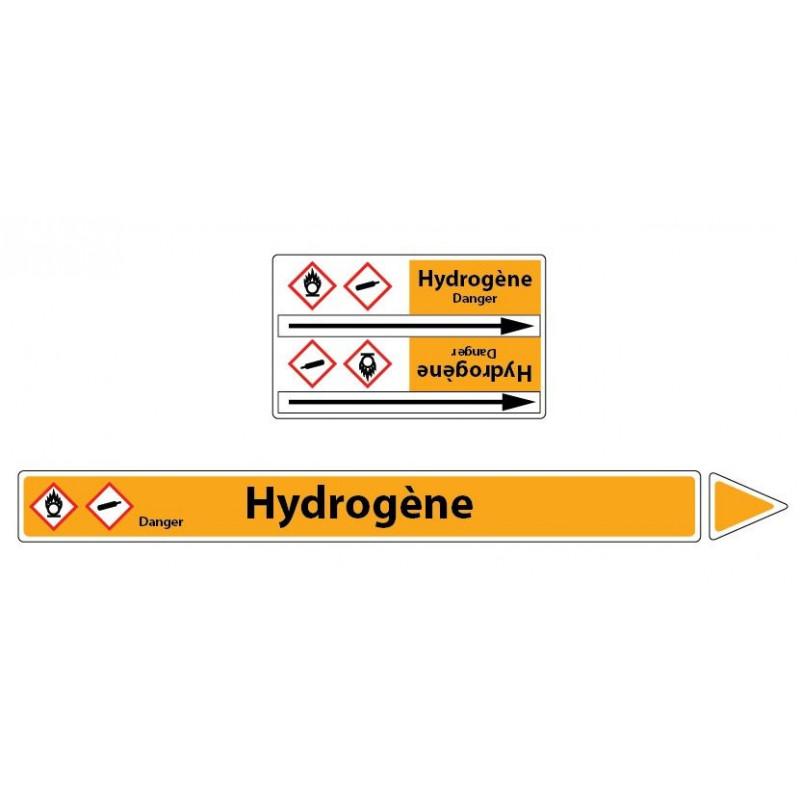 Marqueur de tuyaux CLP Hydrogène