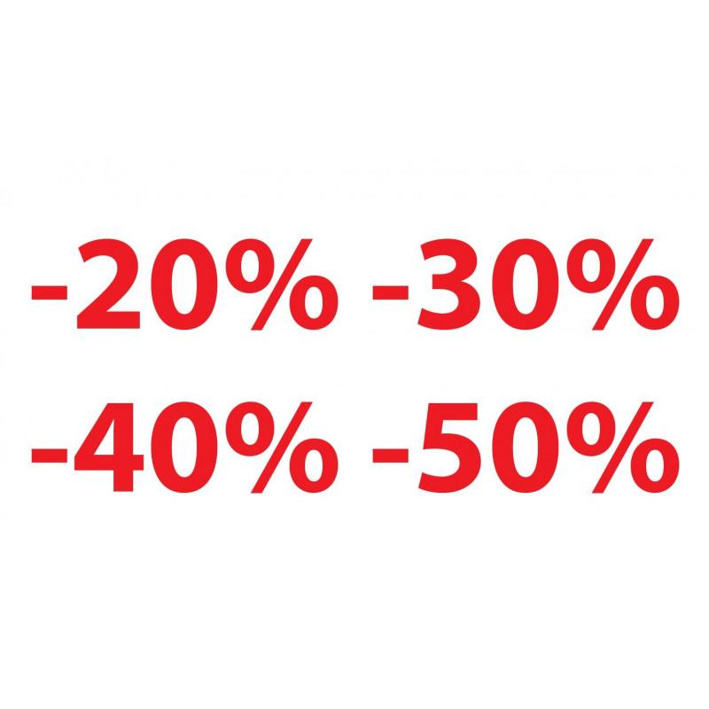 Soldes ou promotion pourcentage de remise