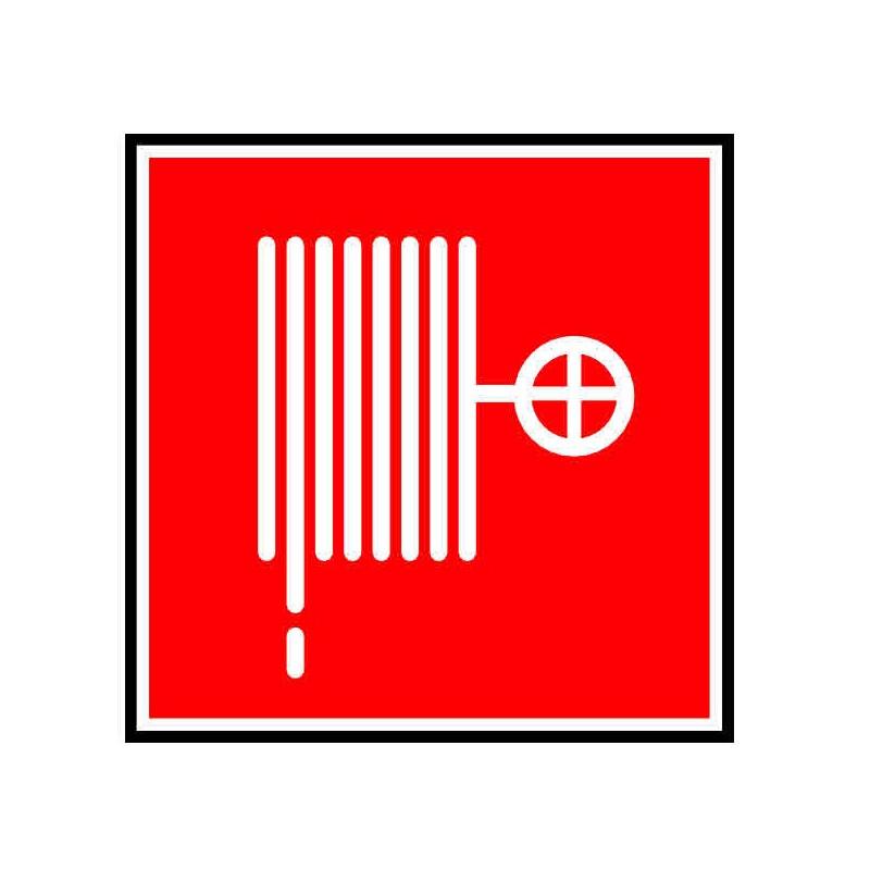 Panneau ou autocollant indiquant un RIA, lance incendie