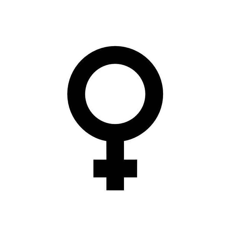 Panneau ou autocollant information indiquant un lieux réservé aux femmes