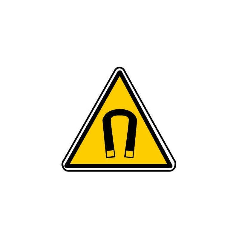 Panneau ou autocollant danger champs magnétique