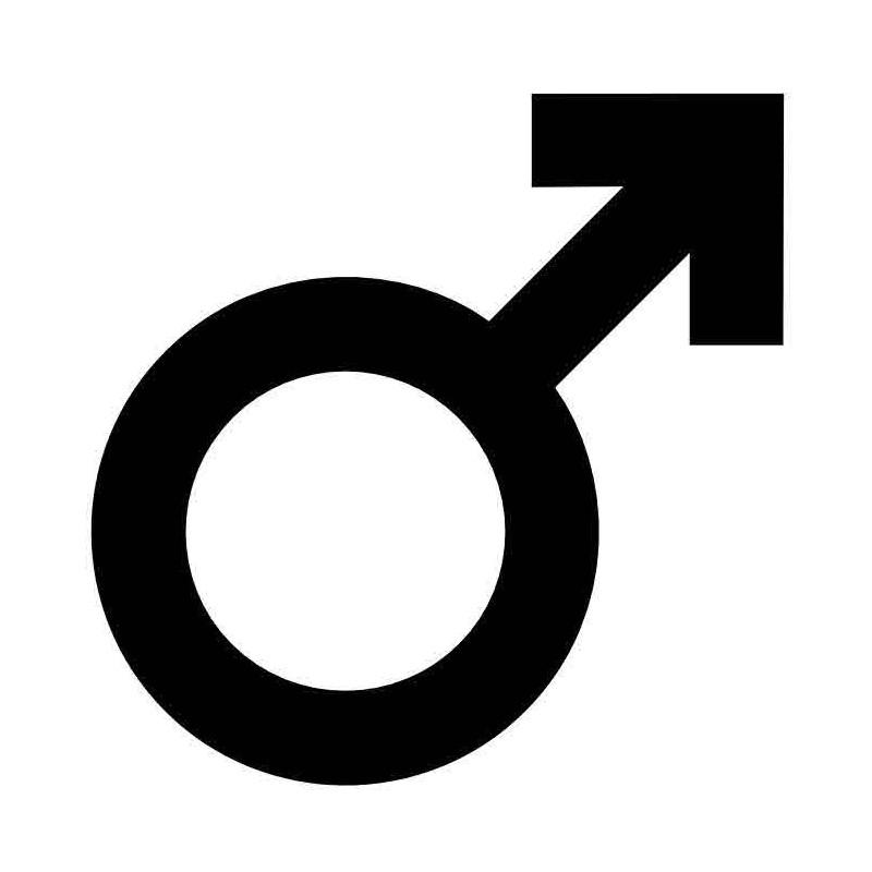 Panneau ou autocollant information indiquant un lieux réservé aux hommes