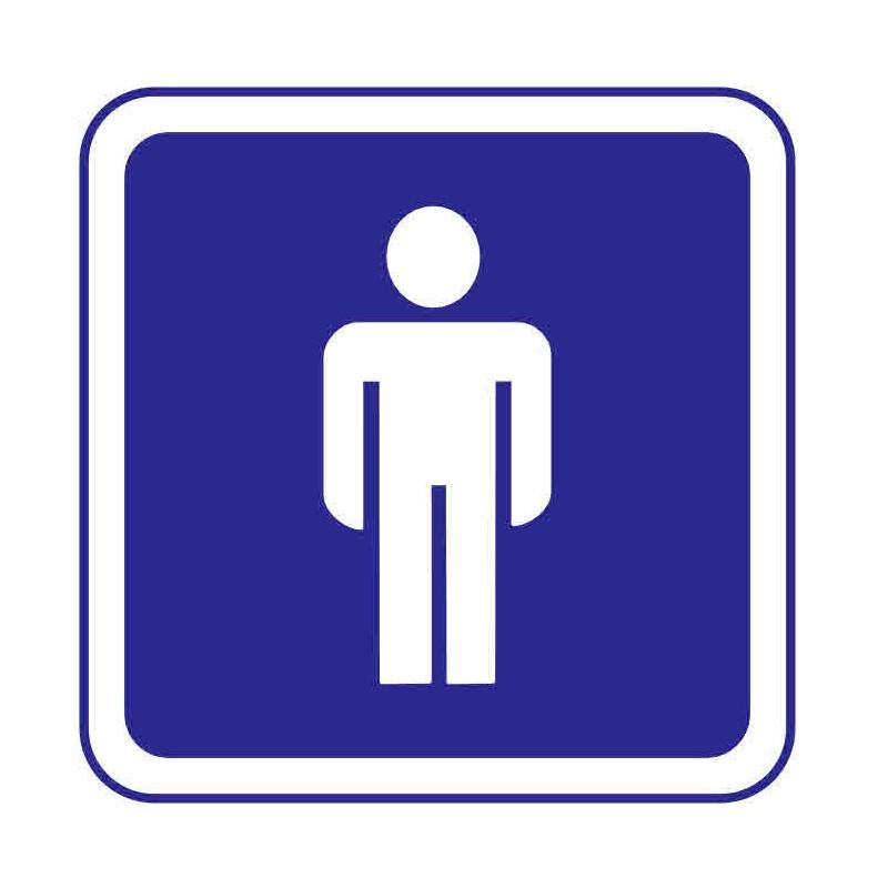 Panneau ou autocollant information indiquant un lieux réservé aux hommes 2