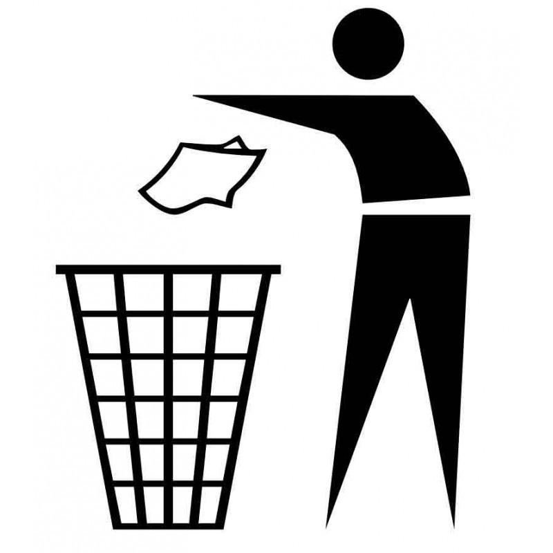 Panneau ou autocollant information indiquant une poubelle 2