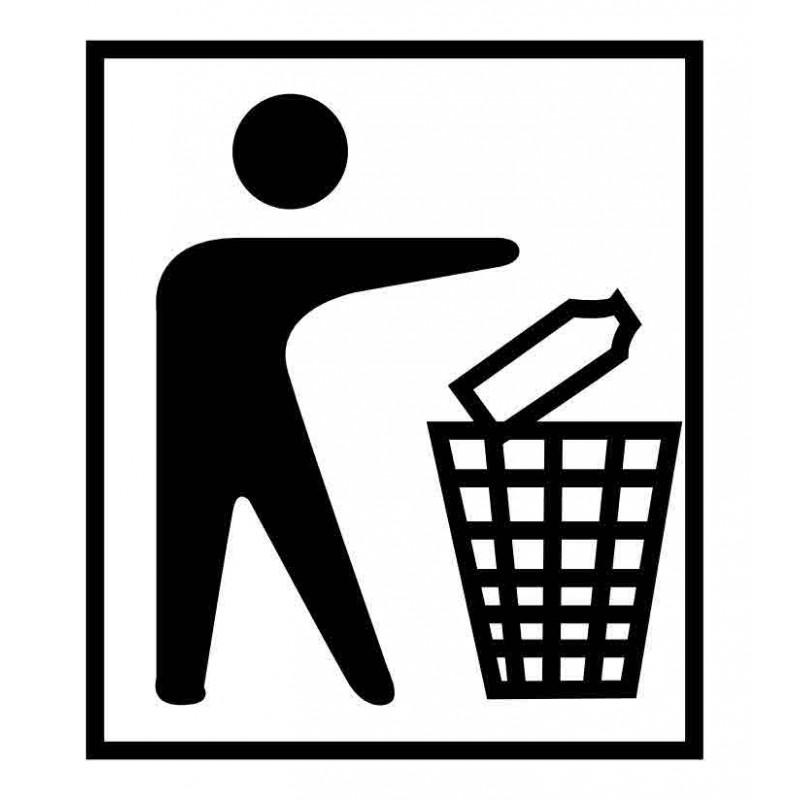 Panneau ou autocollant information indiquant une poubelle 3