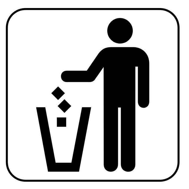 Panneau ou autocollant information indiquant une poubelle 4