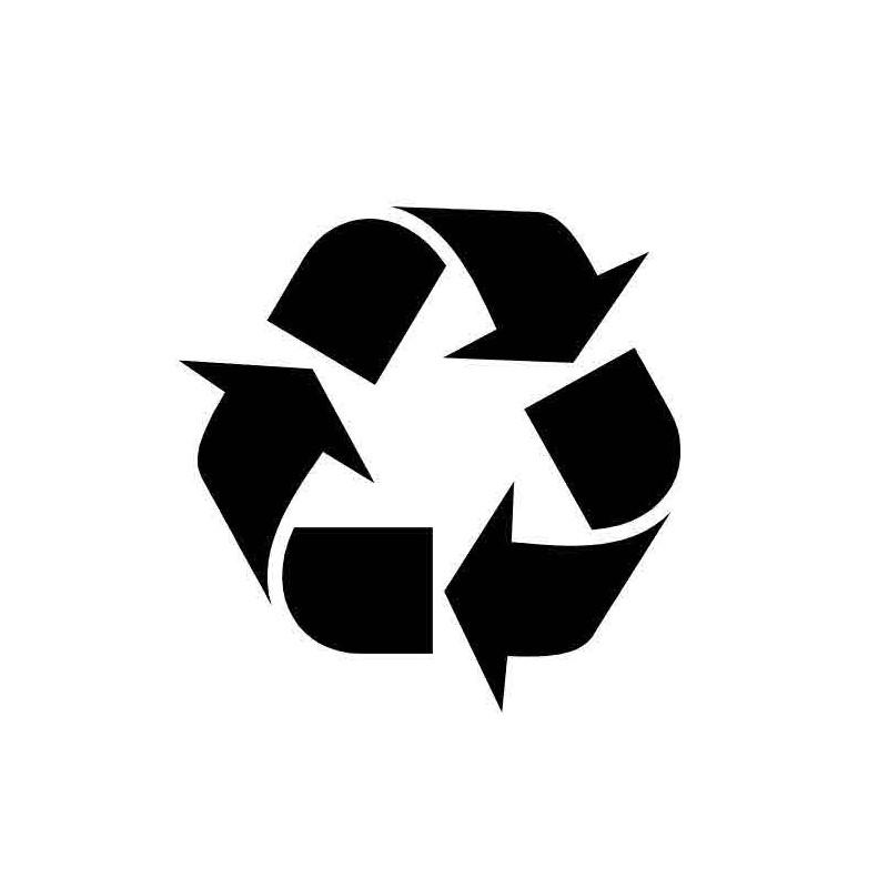 Panneau ou autocollant information indiquant un lieux de recyclage