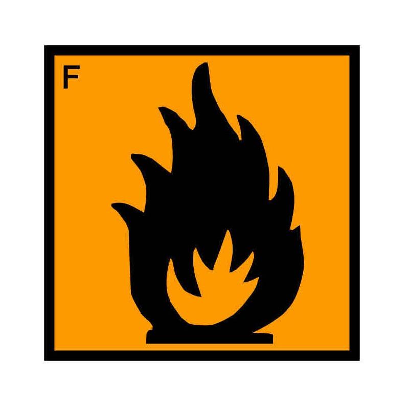 Panneau ou autocollant INRS produits facilement inflammables