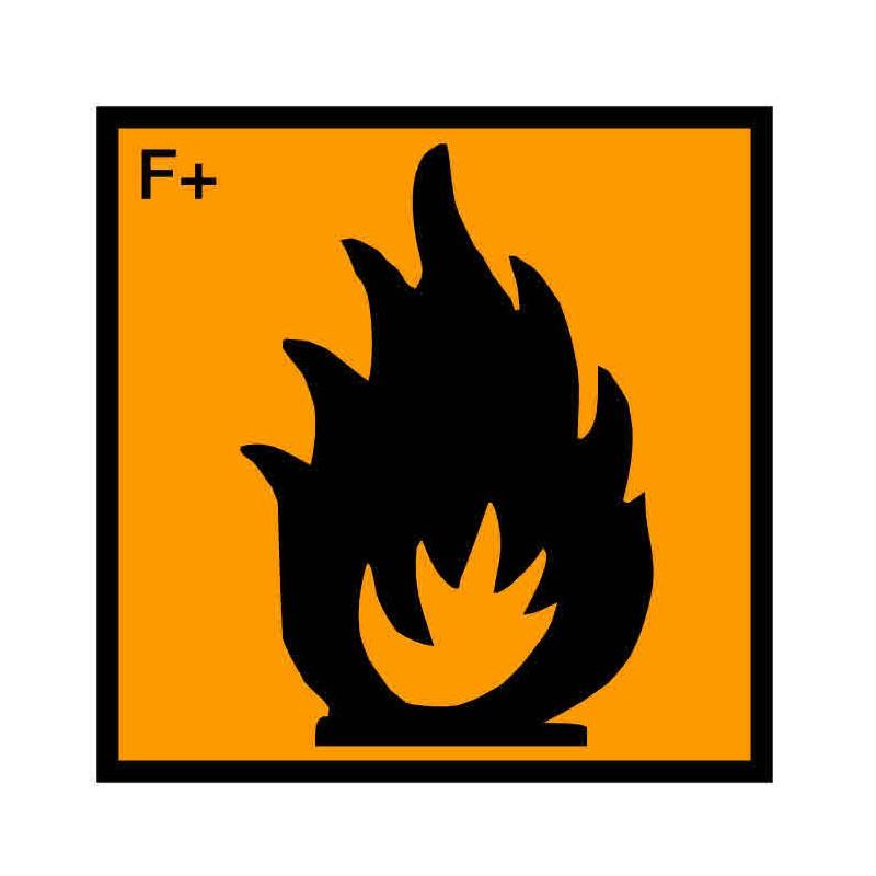 Panneau ou autocollant INRS produits extrêmement inflammables