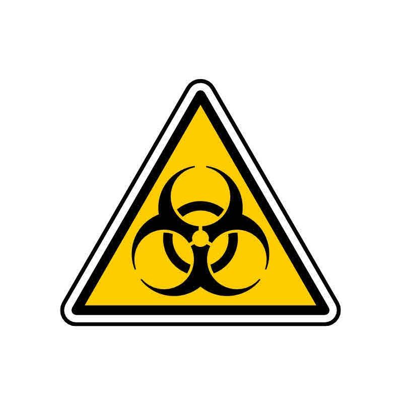 Panneau ou autocollant danger risques biologiques
