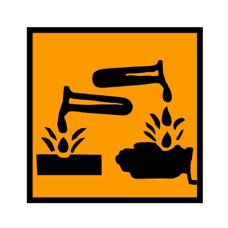 Panneau ou autocollant INRS produits corrosifs