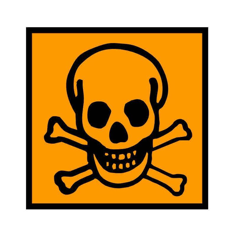 Panneau ou autocollant INRS produits toxiques
