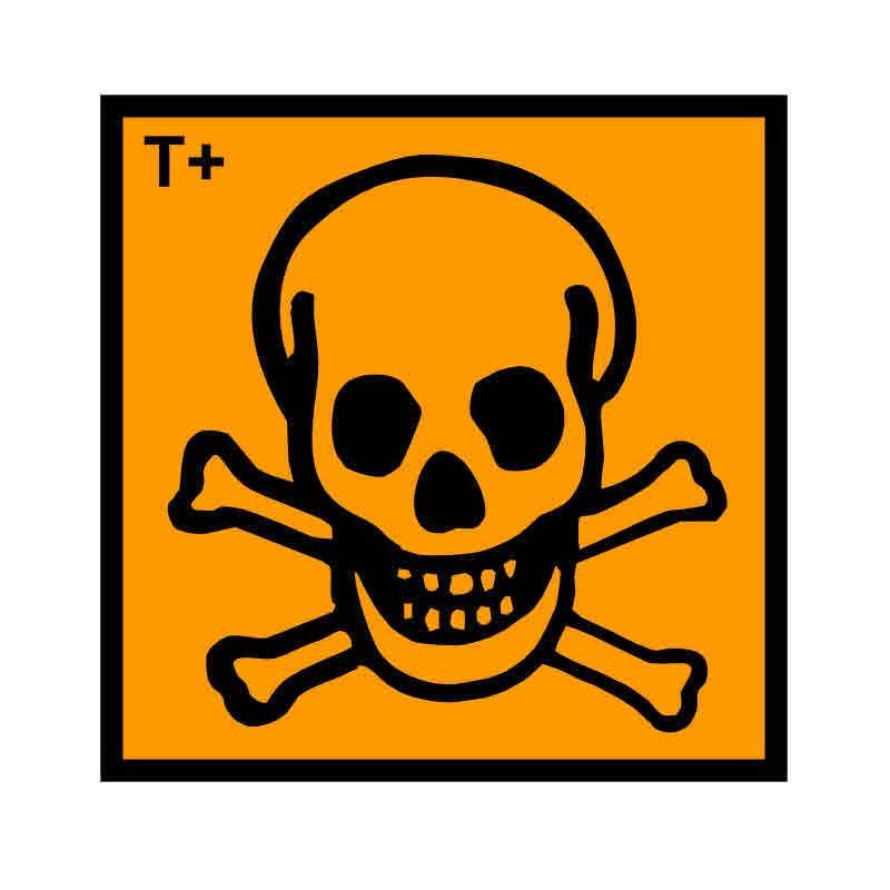Panneau ou autocollant INRS produits très toxiques