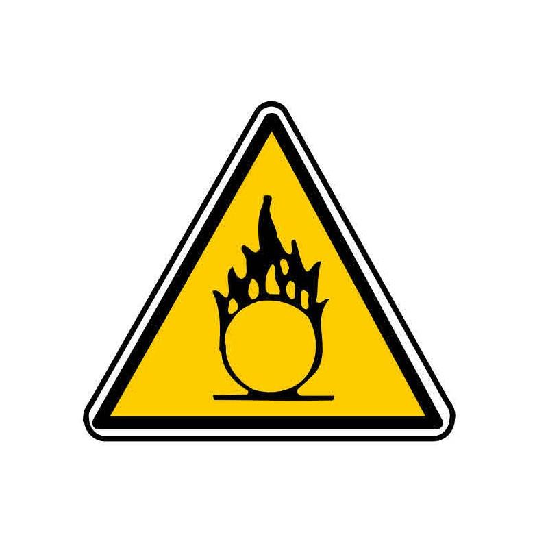 Panneau ou autocollant danger matière comburante