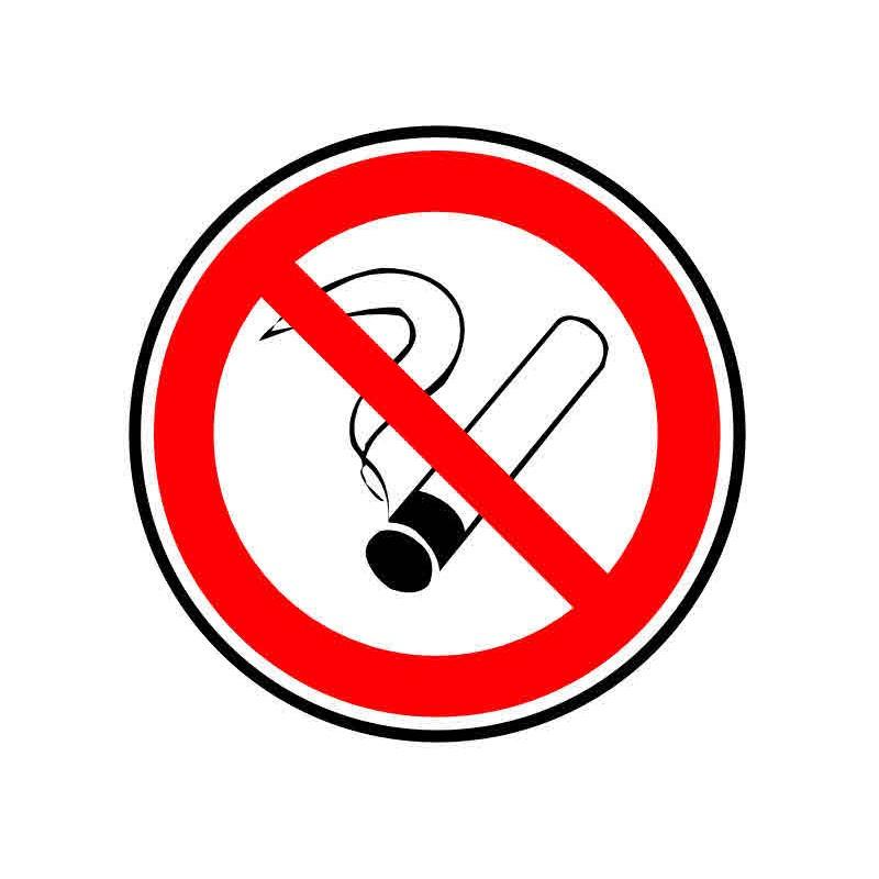 Autocollant ou panneau rigide interdiction de fumer for Panneau inox autocollant