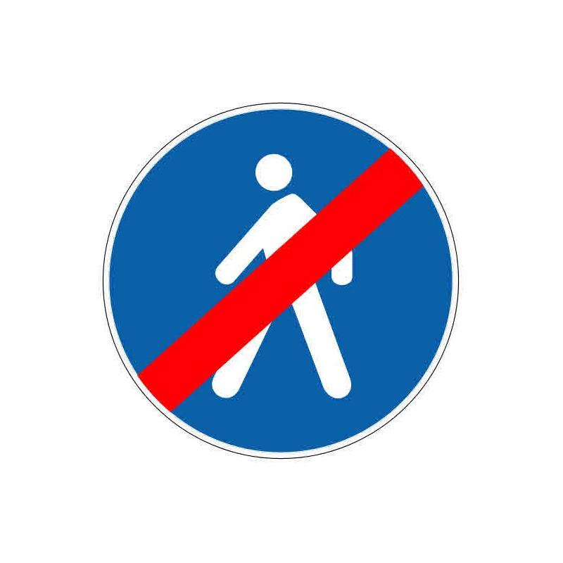 Panneau ou autocollant interdiction aux piéton
