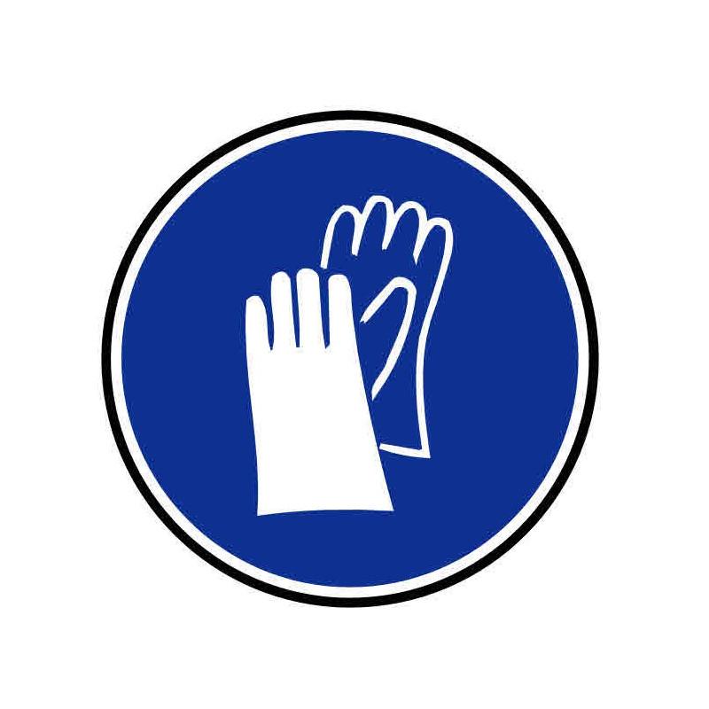 Panneau ou autocollant port de gants obligatoire