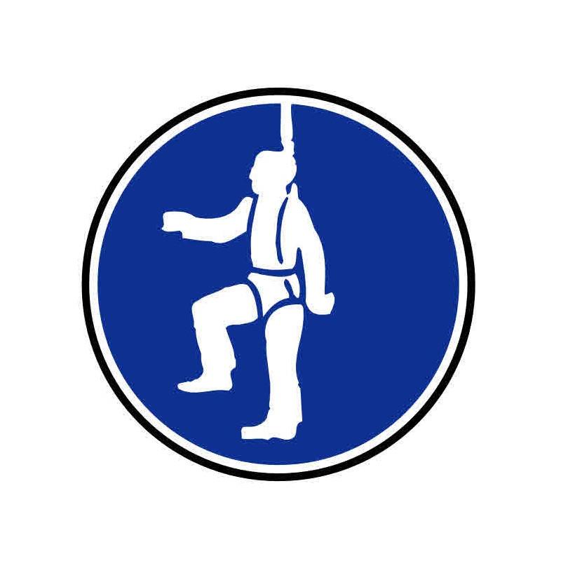 Panneau ou autocollant port de harnais obligatoire