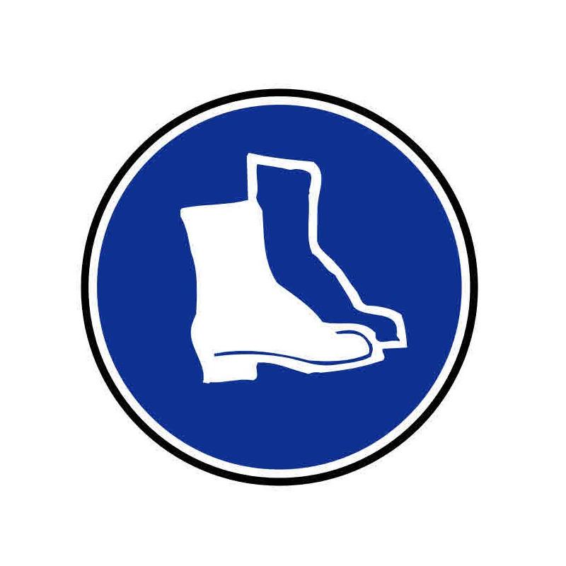 Panneau ou autocollant port de chaussures de sécurité obligatoire