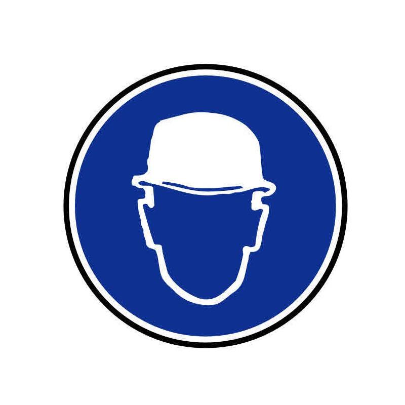 Panneau ou autocollant port d'un casque obligatoire