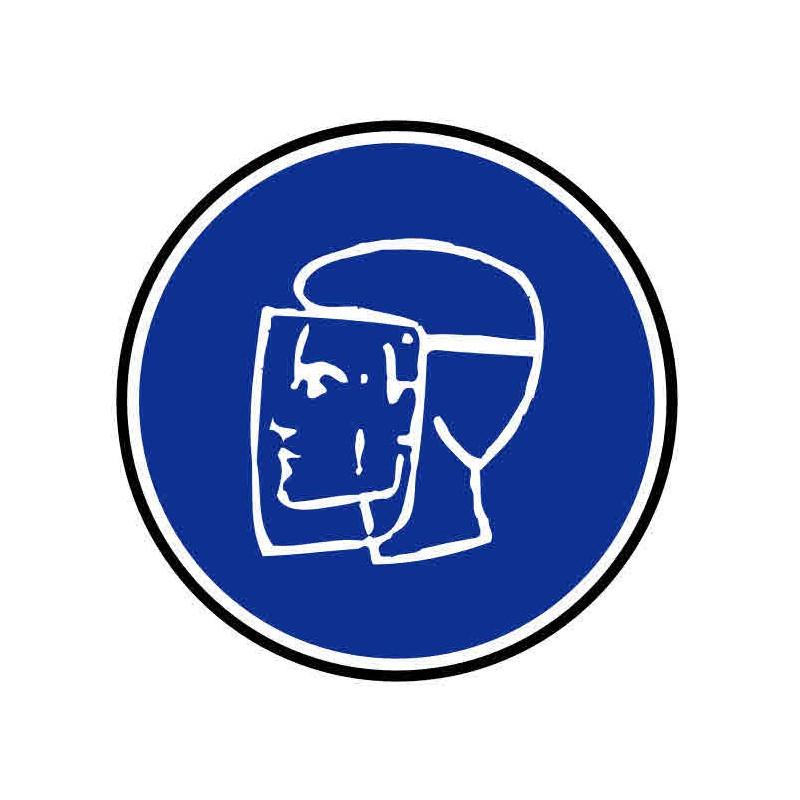 Panneau ou autocollant protection du visage obligatoire