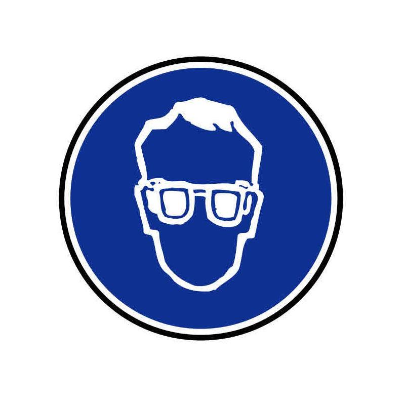 Panneau ou autocollant port de lunette obligatoire