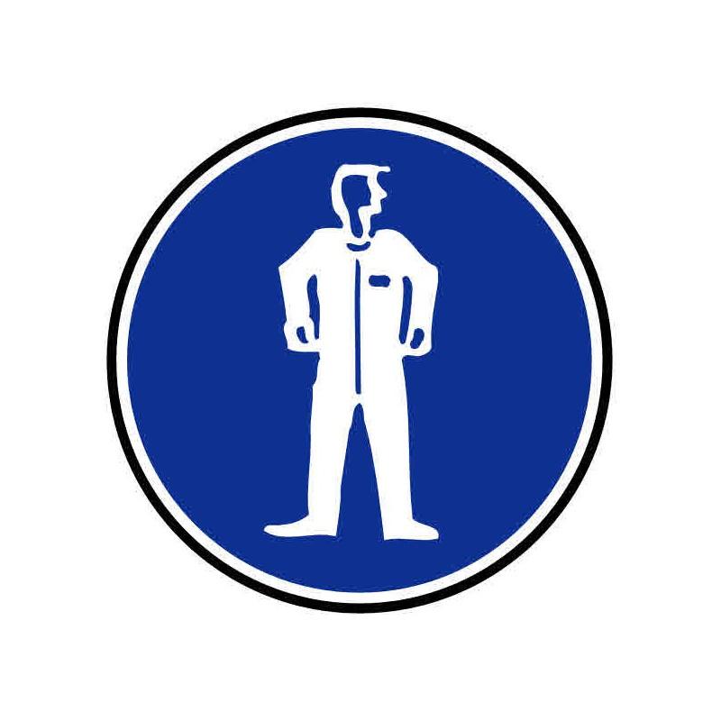 Panneau ou autocollant port d'une tenu de protection obligatoire
