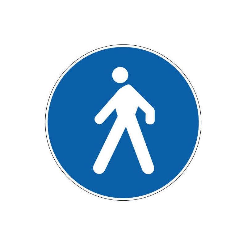 Panneau ou autocollant passage piéton obligatoire