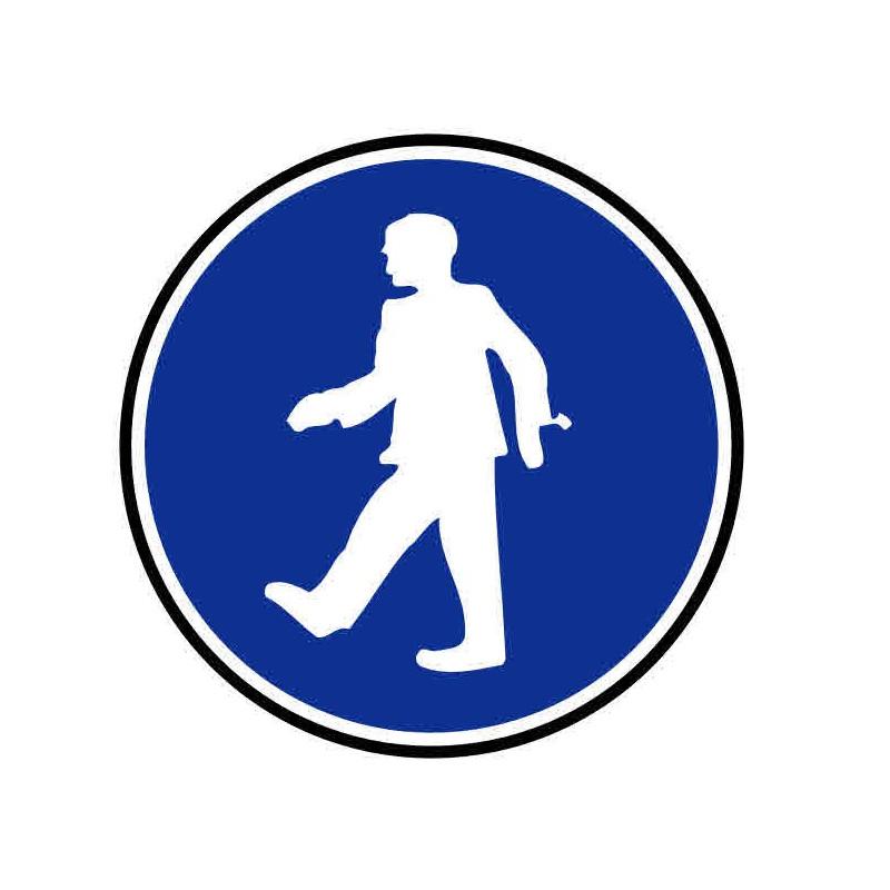 Panneau ou autocollant passage piéton obligatoire 2