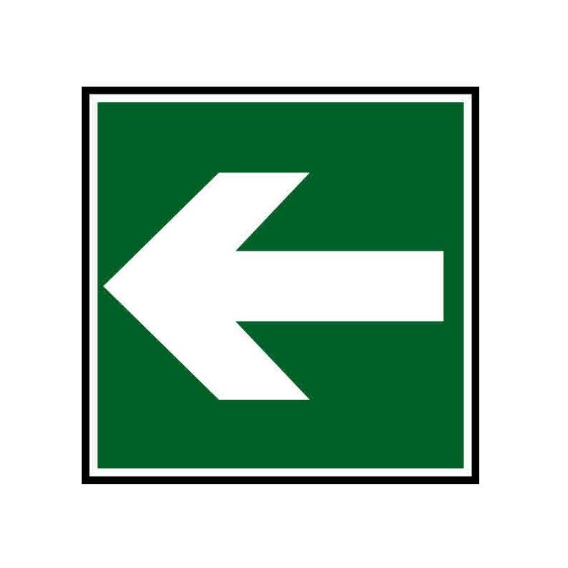 Panneau ou autocollant indiquant une direction à suivre gauche