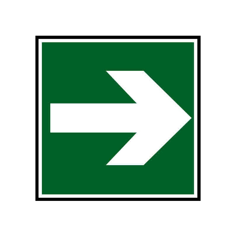Panneau ou autocollant indiquant une direction à suivre droite