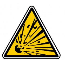 Panneau ou autocollant danger risque explosif