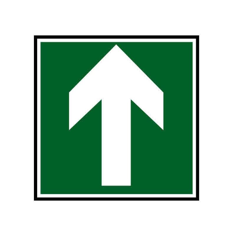 Panneau ou autocollant indiquant une direction à suivre haut