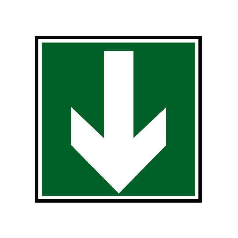 Panneau ou autocollant indiquant une direction à suivre bas