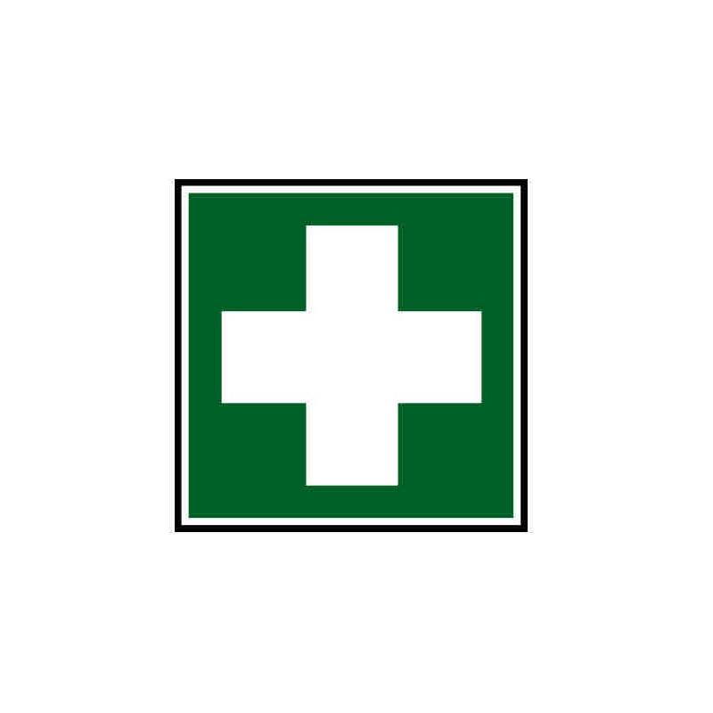 Panneau ou autocollant indiquant une pharmacie