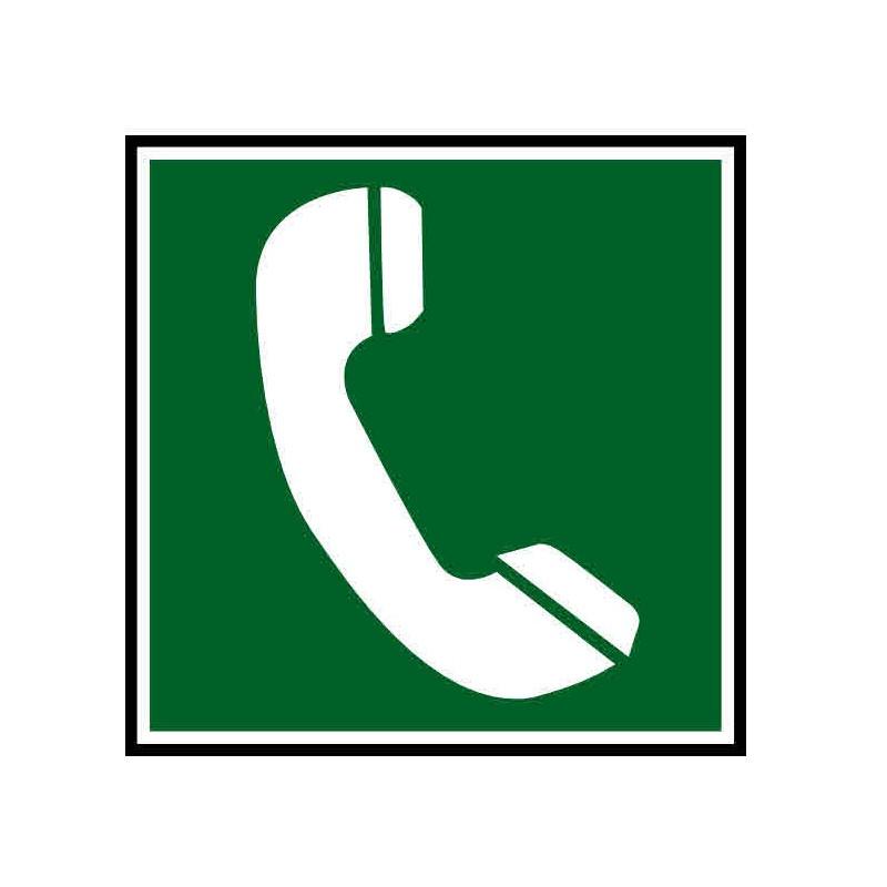 Panneau ou autocollant indiquant téléphone de secours