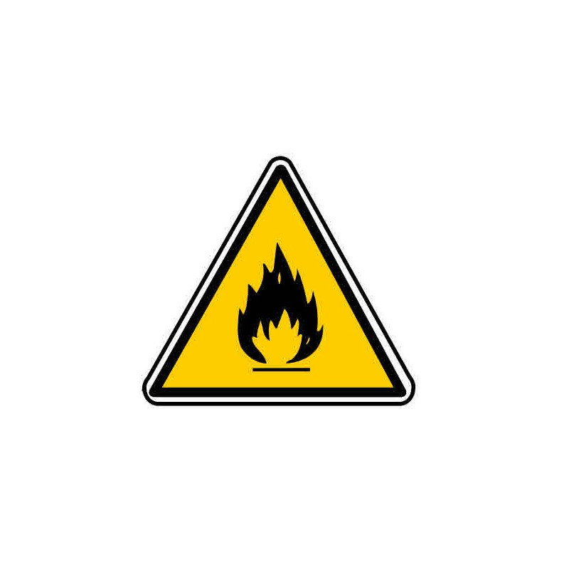 Panneau ou autocollant danger produits inflammables