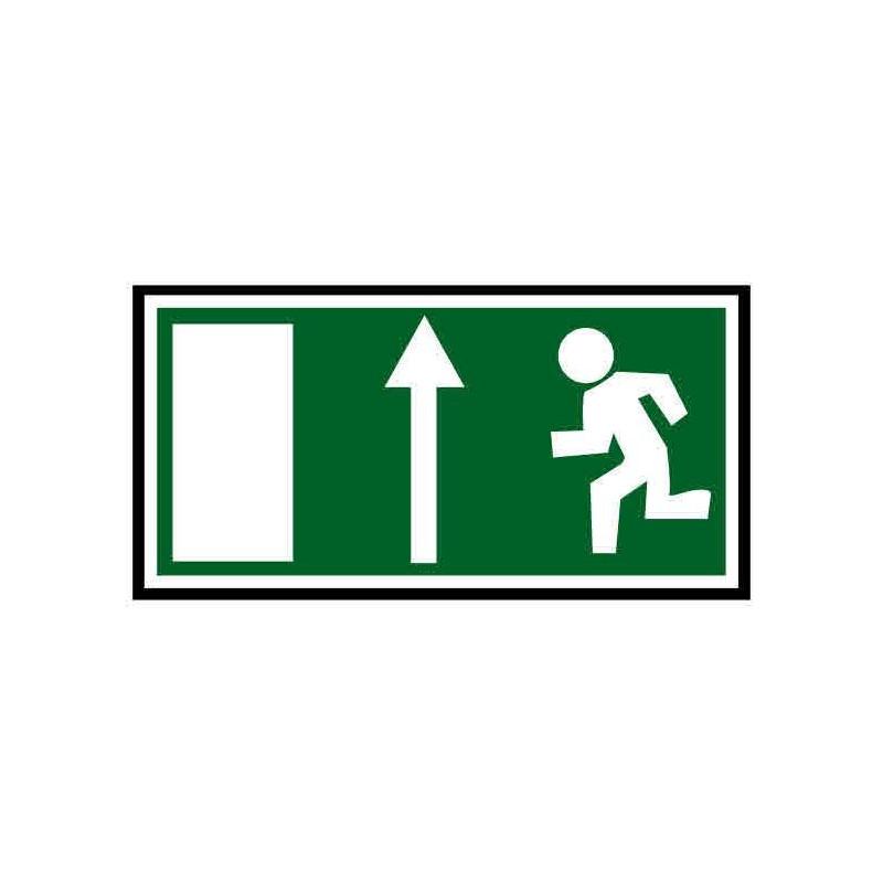 Panneau ou autocollant indiquant une sortie de secours en haut