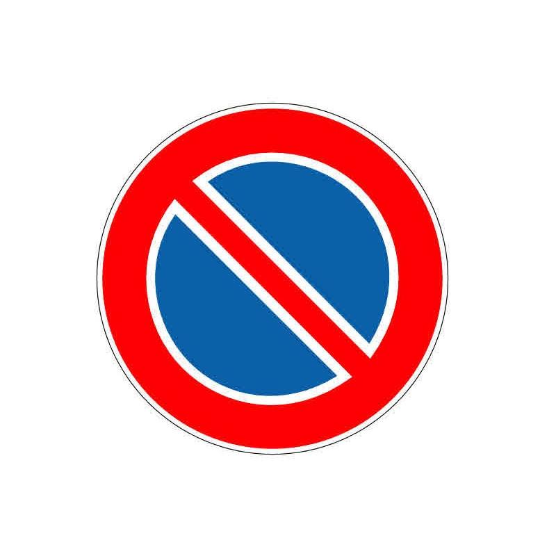 Panneau ou autocollant interdiction de stationner