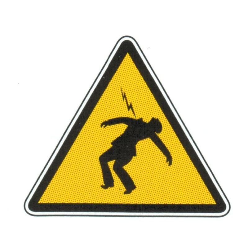 Panneau danger électrique ou électrocution